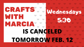 Crafts is canceled this Wednesday
